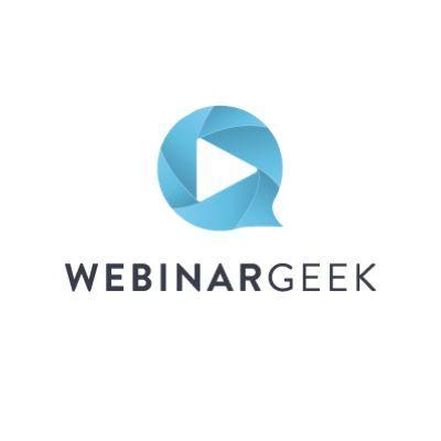 Logo de WebinarGeek para webinars